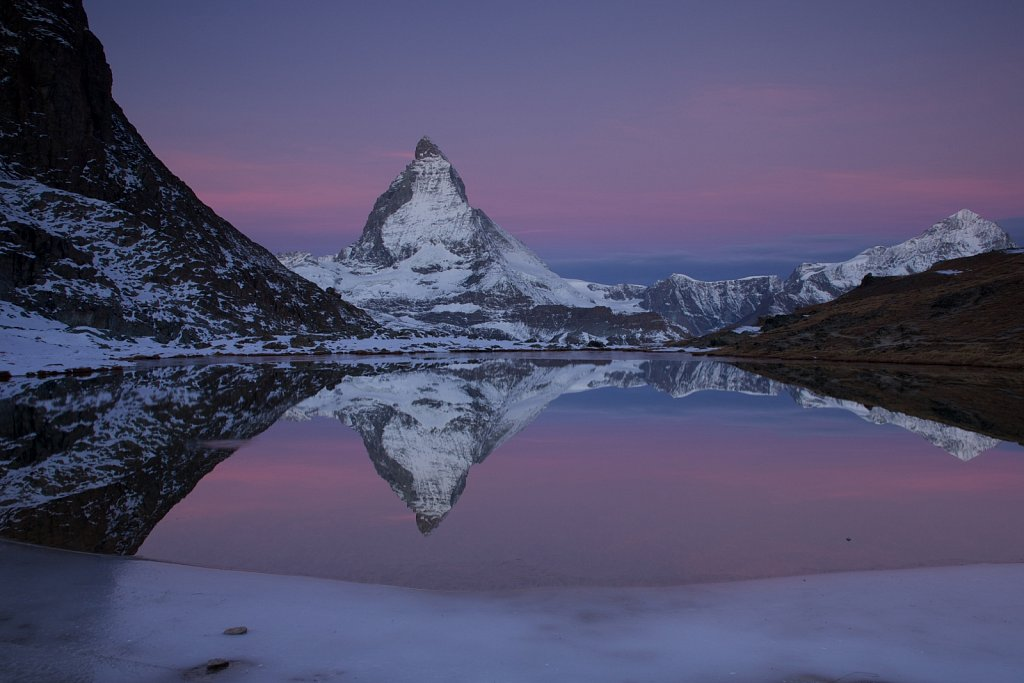 Morgendämmerung am Matterhorn